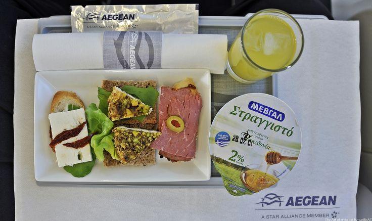 Aegean Business Class Breakfast (Short duration flight)
