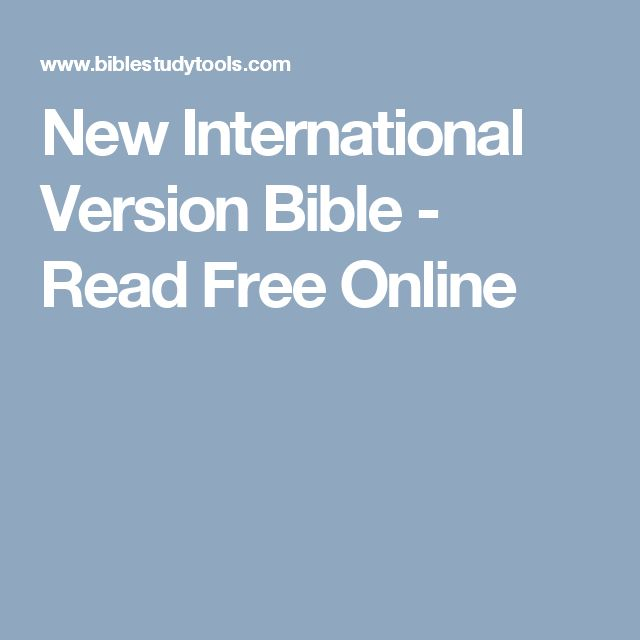 New International Version Bible - Read Free Online