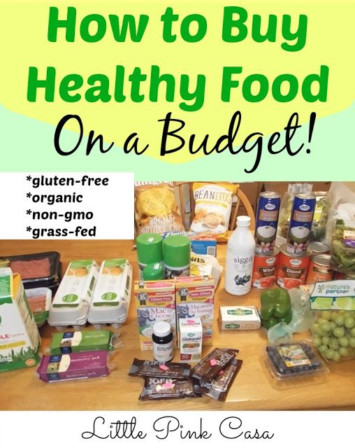 How to Buy Healthy Food on a Budget. Eating healthy doesn't have to be expensive. See how we shop on a budget for healthy food deals plus video.