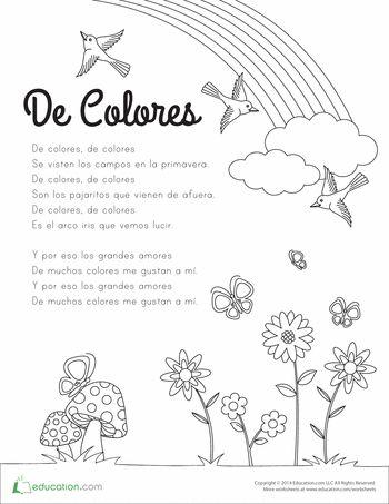 De Colores Coloring Page   MFW Countries/Cultures   Pinterest ...