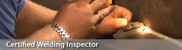 Certified Welding Inspector..my hubbys moving up in the company! Yay! I love his determination!