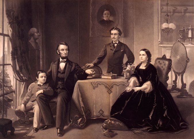 Abraham Lincoln and family -