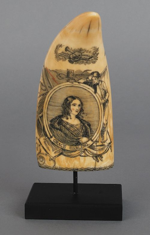Back side of tooth. Grace Darling with her sailor pining for her