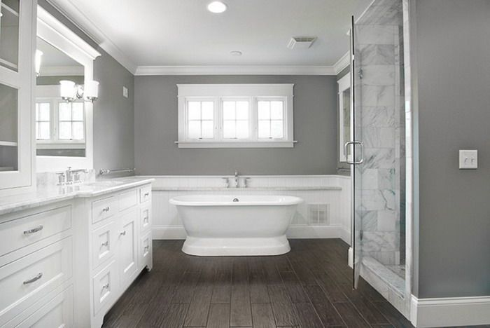 Calm White and Grey bathroom Schemes