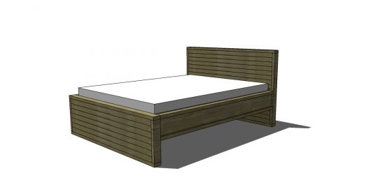 Free DIY Furniture Plans: How to Build a Queen Sized Rustic Slatted Bed | The Design Confidential