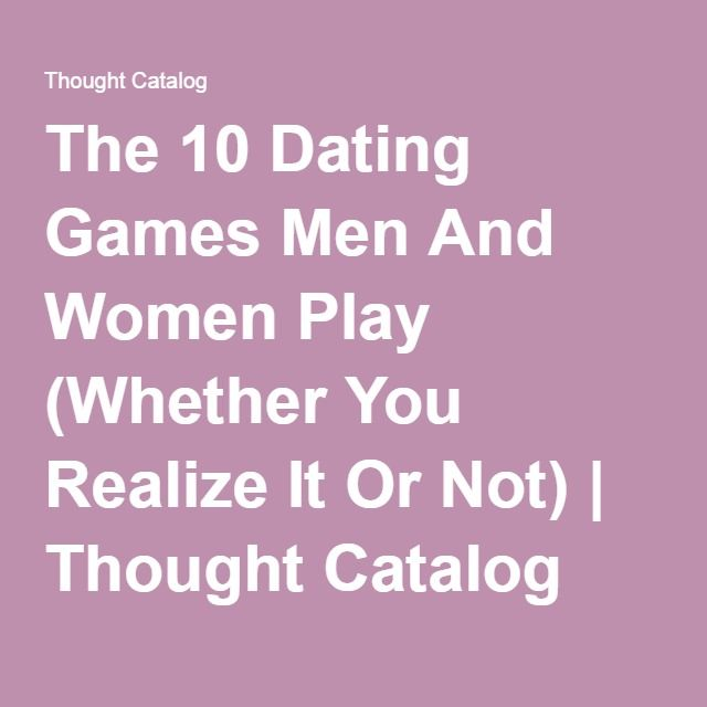 men and dating games