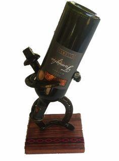 porta vino / posa botella de hierro