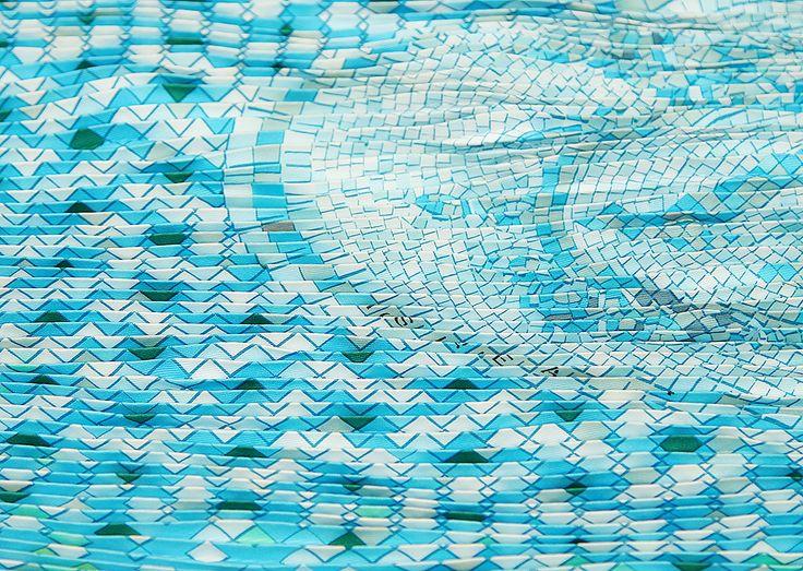 Hermès Mosaique au 24 Plisse Silk Scarf