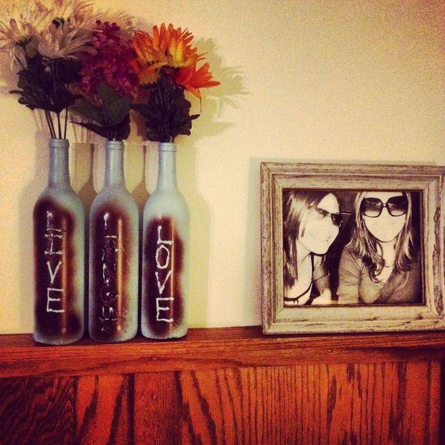 185 Best Images About Wine Bottle Decorations On Pinterest