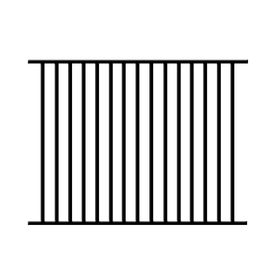 Ironcraft Black Powder Coated Aluminum Fence Panel Common