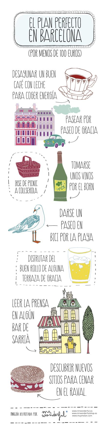 El plan perfecto en Barcelona. The perfect plan in Barcelona. By Mr. Wonderful.