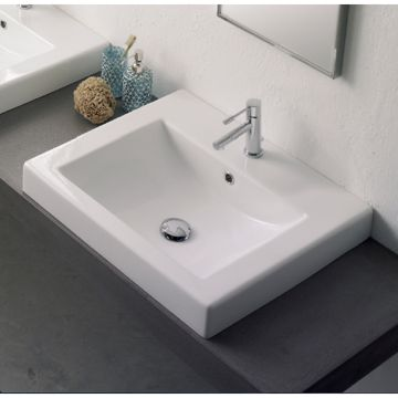 Best Zen Sinks With Overflow Images On Pinterest Bathroom - Square drop in bathroom sink for bathroom decor ideas