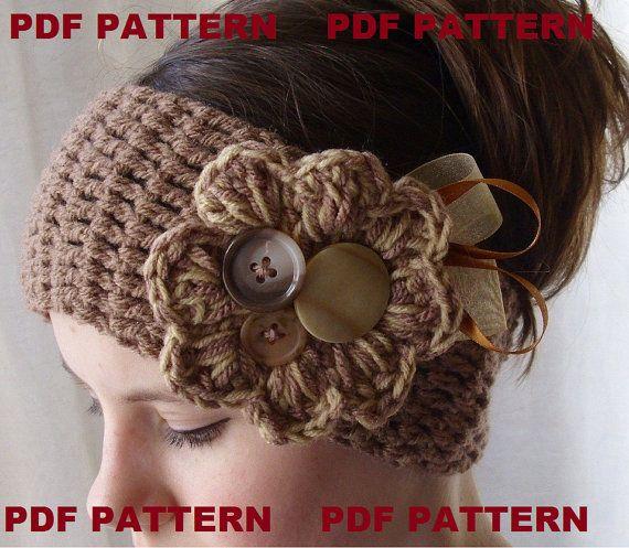 Ear warmer: Head Bands, Idea, Flowers Crochet, Crochet Ears Warmers, Crochet Hats, Crochet Patterns, Winter Headbands, Crochet Knits, Crochet Headbands