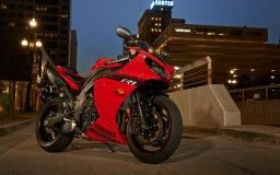 lights bike red town night road yamaha bike shadow p1 yzf-r1