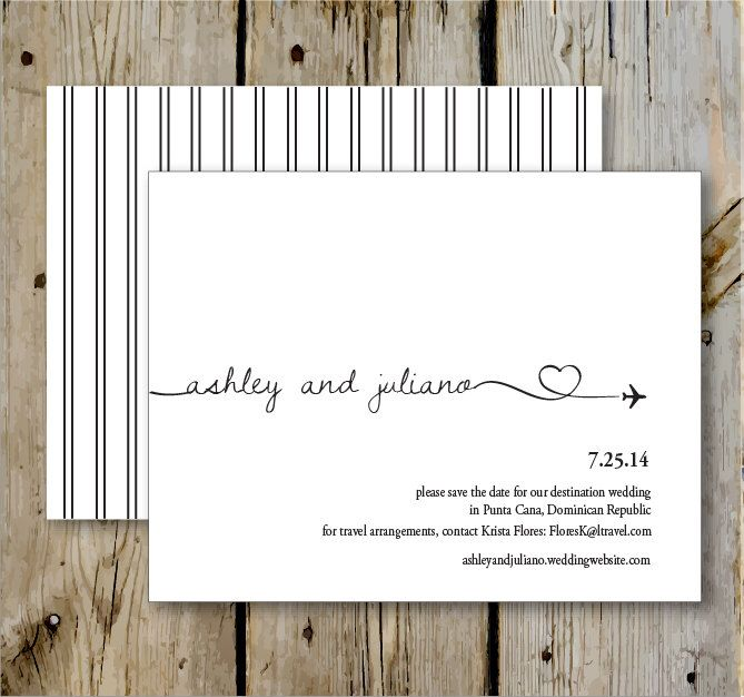 Destination Wedding Save the Date- Print Yourself or Add a Print Package by TenpennyCreative on Etsy https://www.etsy.com/listing/176522453/destination-wedding-save-the-date-print