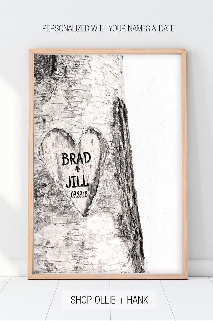 Valentine Gift For Him Idea Sweetheart Tree Print Valentines
