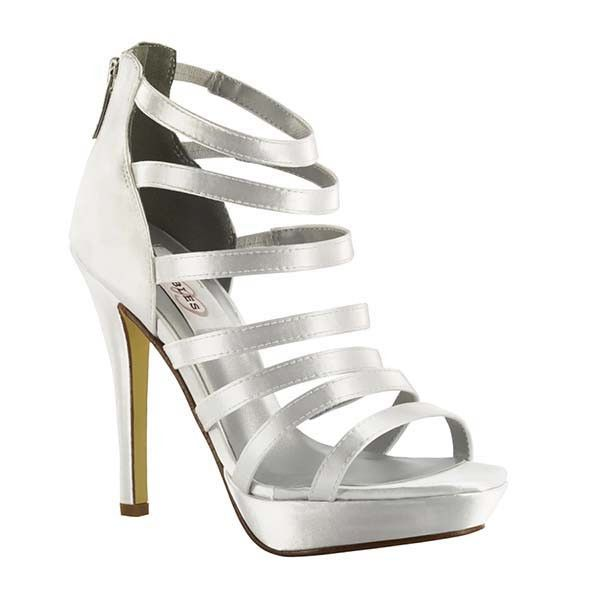 Savor every step in the Dyeables Lola platform sandal. The strappy design  of this women's cage sandal is has a rear zipper for easy entry and  entrance ...
