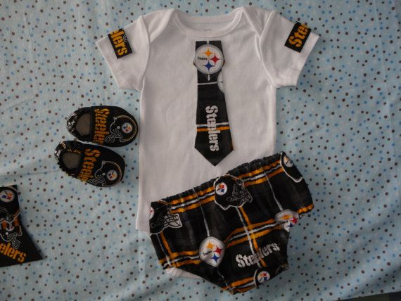 NFL Boy Steelers Tailgating Matching Booties by doodlesbabylicious, $35.00