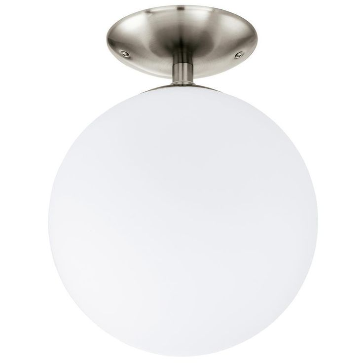 Eglo 91589 Rondo Modern Matt Nickel & Opal Glass Semi Flush Light. The Eglo 91589 is part of the Semi Flush Lighting range. Buy Eglo Indoor 91589.