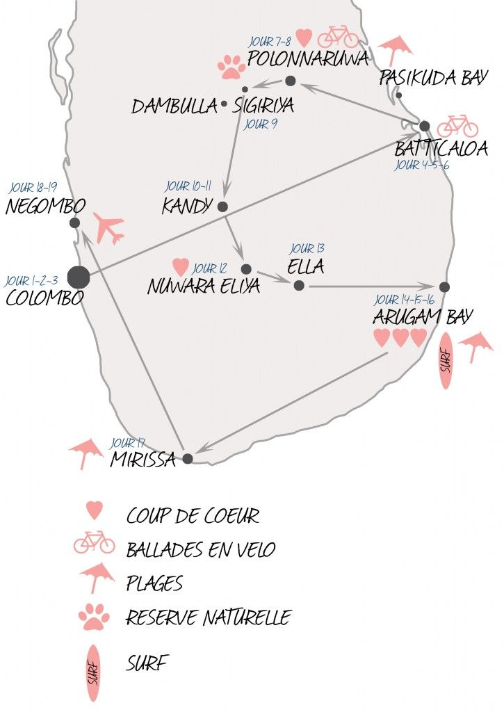 carte-srilanka-itinerairesri lanka  sans talon, bon site