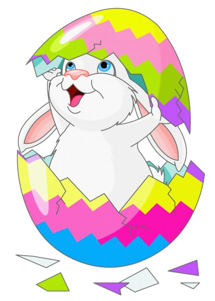 easter png | Easter Bunny Clipart Picture with Egg
