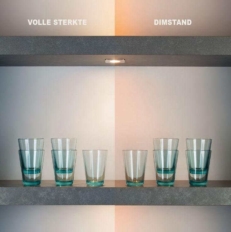 Sfeervolle verlichting voor de keuken! Bij de standaard ledverlichting blijft de lichtkleur bij vol vermogen en in dimstand hetzelfde. Bij Moodlight niet. Net als bij de traditionele halogeenverlichting wordt de kleur in de dimstand steeds warmer en sfeervoller!