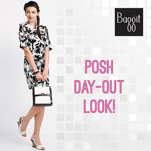 A day out with your girlfriends at the restaurant can be glamorous, yet fun. Rock a posh monochrome look with an exquisite handcarry bag from #Baggit's Exotic Imprints Collection and be flooded with compliments.