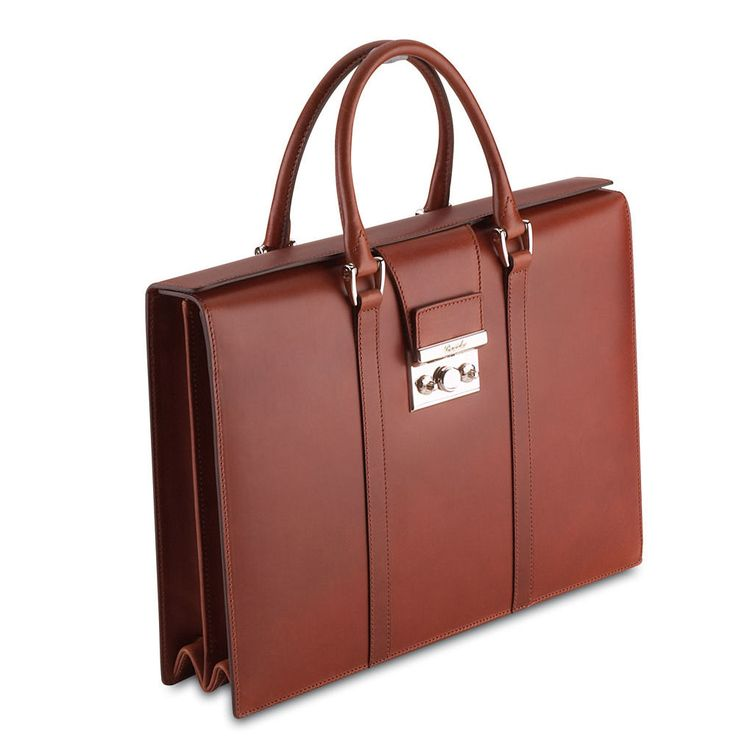Pineider Power Elegance Leather Womens Briefcase - Double Gusset $2,192