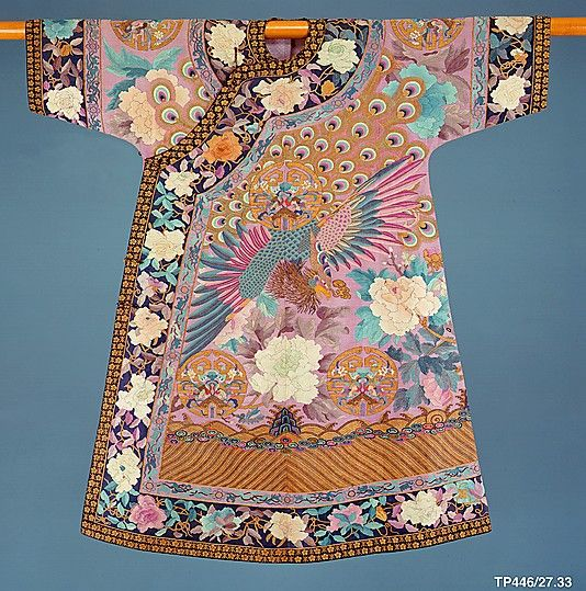 Woman's Birthday or Informal Ceremonial Robe Qing dynasty (1644–1911) late 19th-early 20th century