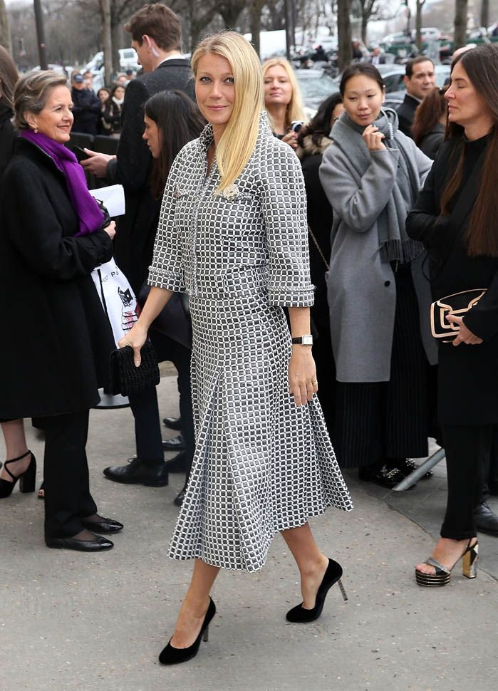 Gwyneth Paltrow in Paris for Chanel Haute Couture Spring Summer 2016 show with Karl Lagerfeld|Lainey Gossip Entertainment Update
