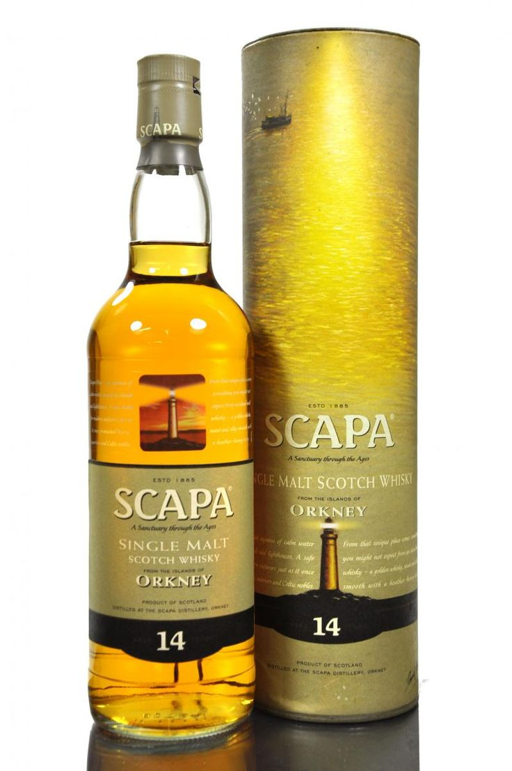 From the remote Orkney Islands comes a whiskey from the Scapa Distillery which lies just a half mile south of Highland Park which is Scotland`s nothernmost distillery. Scapa 14 year old Single Malt. Town: Kirkwall, Orkney the distillery was founded in 1885.