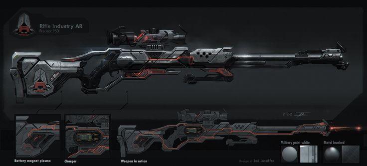 ArtStation - Rifle Industry AR precisor P50, joé Lesaffre