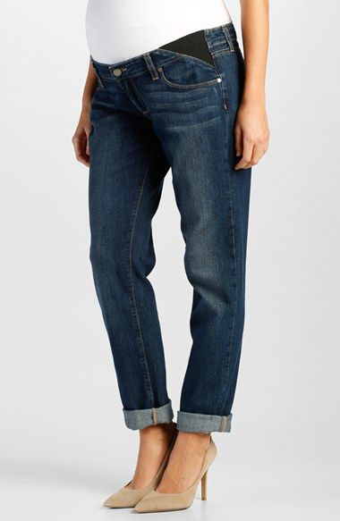 Paige Denim 'JJ' Maternity Boyfriend Jeans with Side Gussets (Rebecca) available at #Nordstrom