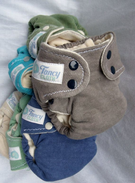 XS/S Hemp Fitted Cloth Diapers Handdyed and Natural by #fancycloth on etsy