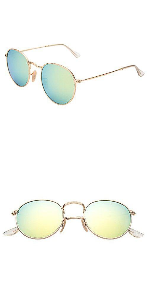 aa0363b4d1 LianSan Classic Metal Frame Round Circle Mirrored Sunglasses Men Women  Glasses 3447(Z-yellow