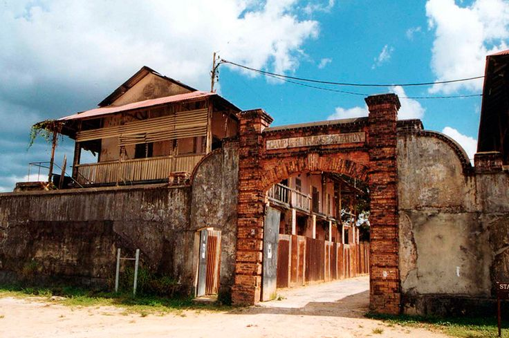 The transportation camp in french guiana. Saint Laurent du Maroni. A sad side of french history in South America