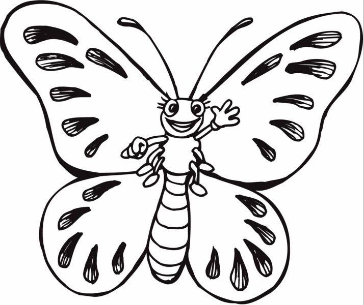print coloring page and book cartoon butterfly coloring page for kids of all ages updated on saturday april