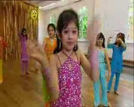 adorable Bollywood kids dance class