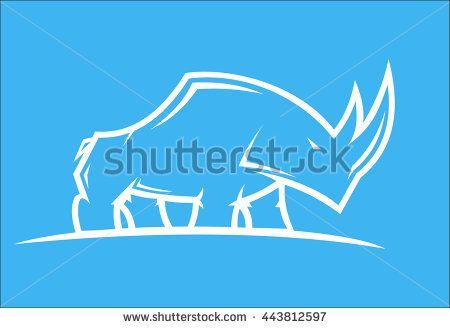 illustration of a wild rhinoceros