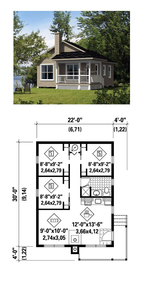 49 best tiny micro house plans images on pinterest for 3 bedroom tiny house