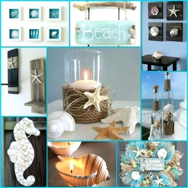 Sea Decor Shells Themed Ideas Accessories For Bathroom Decorations
