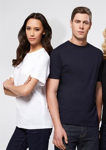 Biz Collection - ProductDetails UNISEX BASE TEE POLYESTER/COTTON - WHITE OR NAVY