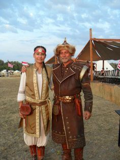 "Hun-Magyar couple at festival event ""Kurultaj"" 