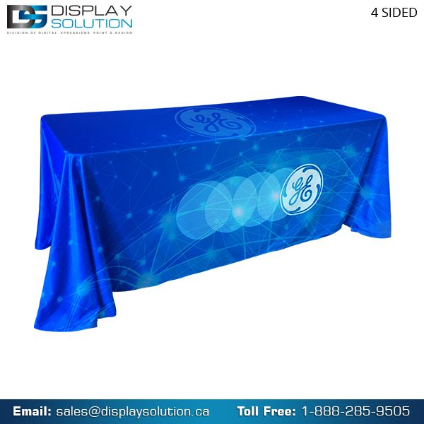 Look professional and enhance your display space with our custom printed trade show table covers and throws available in many shapes, sizes with custom graphics. for more details visit us on https://displaysolution.ca/trade-show-displays/table-throws-covers.html