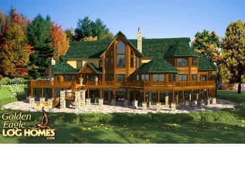 Huge Log Home Plans