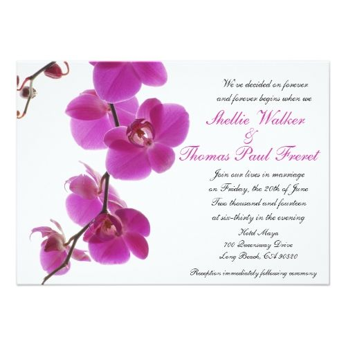 Great Tropical Orchid Wedding Invitations