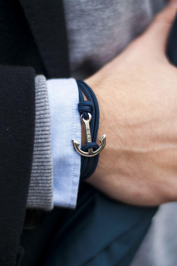 Armband Beaufort - DEUX. Nautische anker armbanden.