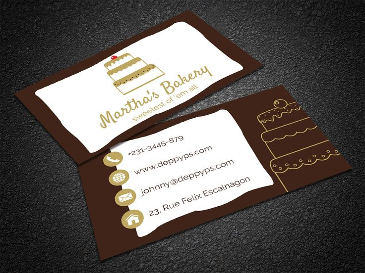 35 best free professional business card edit online and download free cake business card reheart Gallery
