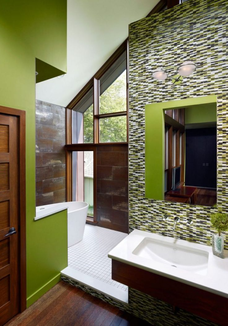 The 25+ best Contemporary green bathrooms ideas on Pinterest ...
