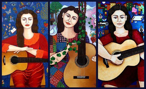 Violeta Parra Collage~ Madalena Lobao-Tello